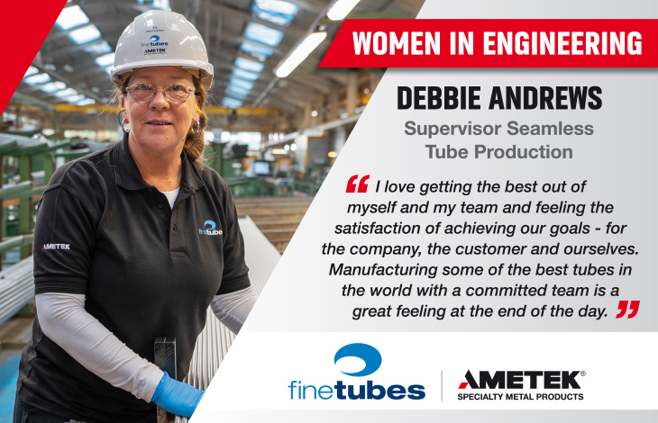 Women in Engineering - Debbie Andrews, Supervisor Seamless Tube Production at Fine Tubes