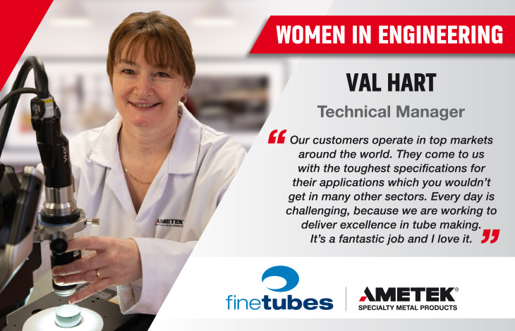 Women in Engineering - Val Hart, Technical Manager at Fine Tubes - Thumbnail